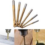 6pcs 3-8mm HSS Titanium Coated Drill Bit Tool Set