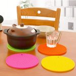 Silicone Round Scald Proof Placemat Heat Resistant Non Slip Pot Food Placemat Holder