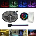 5M RGB SMD5050 LED Flexible Strip Tape Light Kit RF Controller Connector Cable Wire 12V