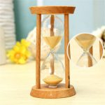 3 Minutes Wooden Sand Clock Sandglass Hourglass Clock Home Decor Unique Gift Kitchen Timer