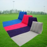 Outdoor PVC Inflatable Camping Back Pillow Cushion Chair Travel Leisure Lounger Mat Pad