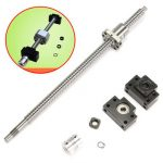 400mm SFU1605 Ball Screw with BK12 BF12 Supports and 6.35x10mm Coupler for CNC