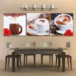 3Pcs Unframed Canvas Coffee Prints Modern Home Decor Wall Art Picture