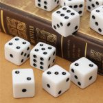 10PCS 16mm Game Dice Standard Six Sided Die RPG For Birthday Parties White