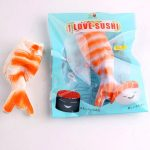 SanQi Elan Squishy Shrimp Sushi Slow Rising Original Packaging Soft Collection Gift Decor Toy