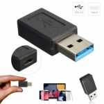USB 3.0 Male to USB 3.1 Type C Female Convertor Data Transfer Charging Adapter