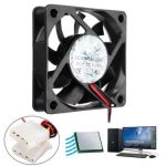 60mm x 60mm x 15mm 12V 4 Pin Internal Computer CPU Cooling Fan Desktop Cooler Fan