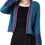 Vintage Women Long Sleeve Embroidery Short Ethnic Cardigan