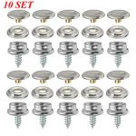 10Set Snap Fastener Screws For Boat Marine Canvas Cover