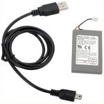 Rechargeable Battery Plus Charging Cable For PS3 Wireless Controllers