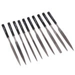 10pc 5×180mm Needle Files Plastic Handle Carbon Steel Shaping Files