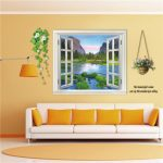 3D 110cm Window Landscape View Removable Wall Sticker Wall Decal Mural Home Decor